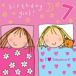 Age 7 Girls Birthday Card